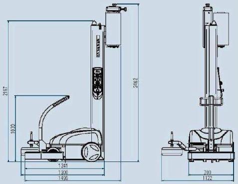 Технические характеристики мобильно паллетоупаковщика Robopac Robot Worker